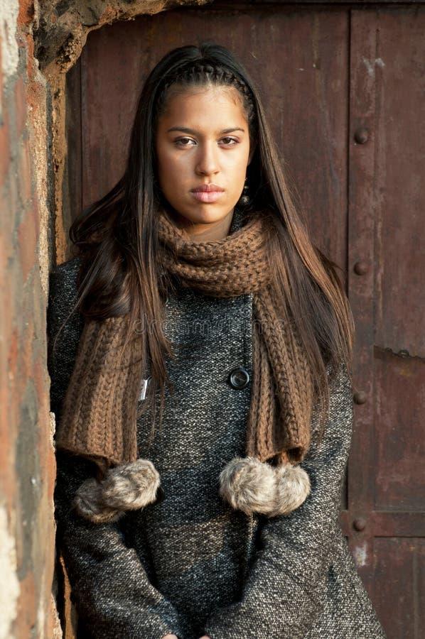 piękna brunetki portreta kobieta zdjęcia stock