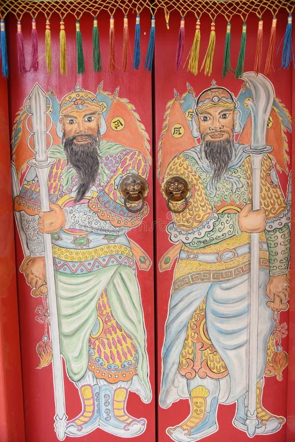 Piękna Chińska wojownik ściana obraz royalty free