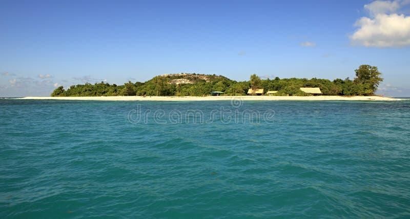 Piękna Cioteczna wyspa w oceanie indyjskim obraz royalty free