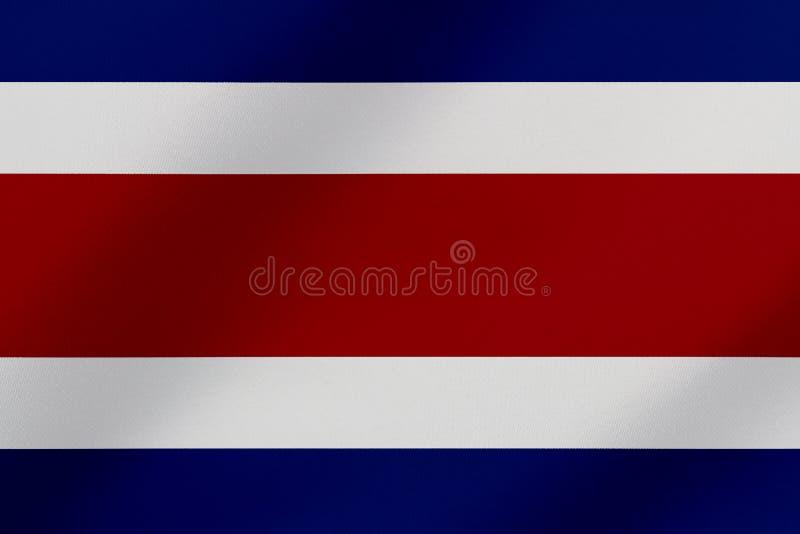 Piękna Costa Rica falowania flagi ilustracja ilustracji