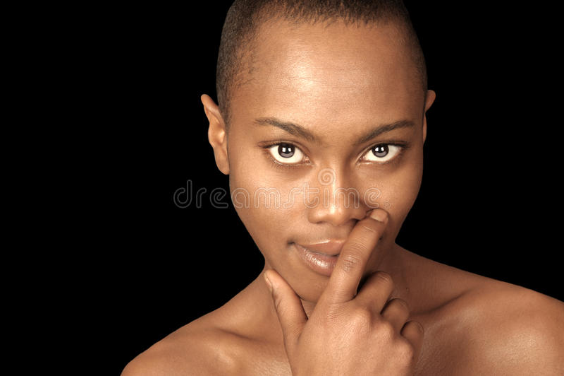 piękna, czarna kobieta obraz royalty free