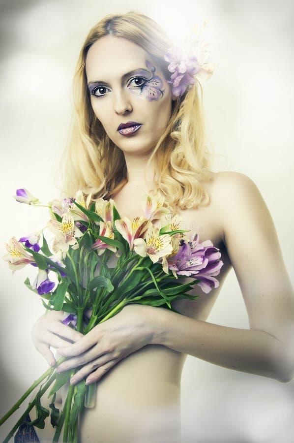 piękna czarodziejska mody portreta kobieta zdjęcie royalty free