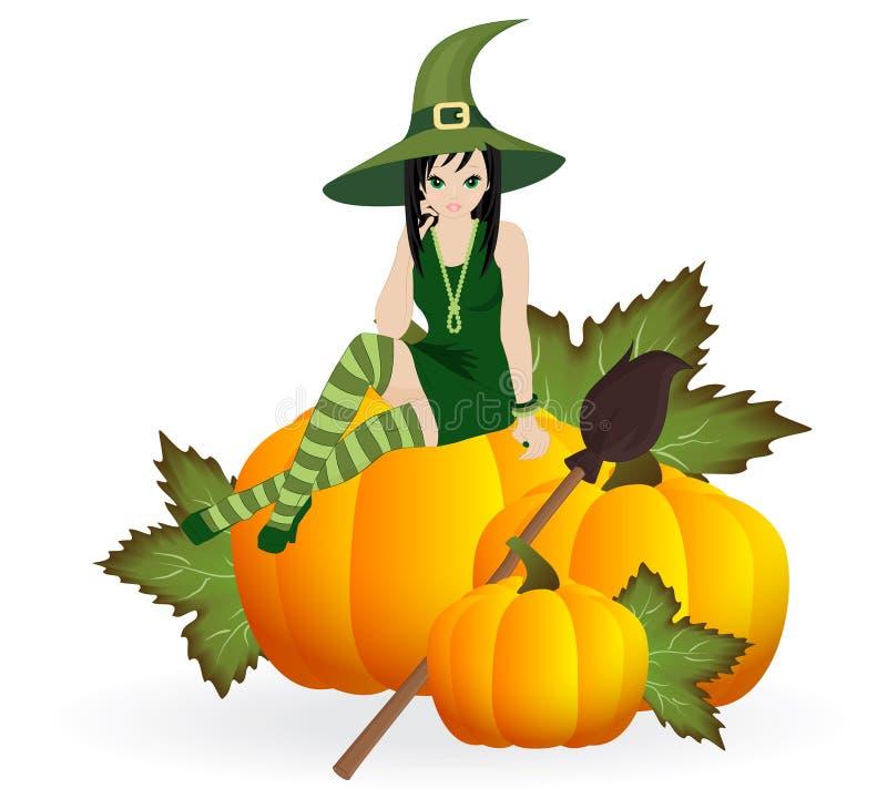 Piękna czarownica royalty ilustracja
