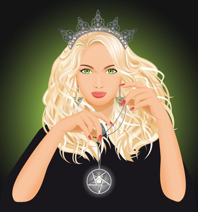 Piękna czarownica ilustracji