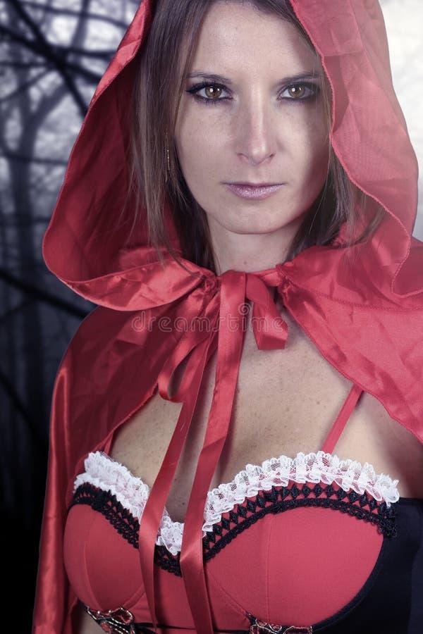 Piękna czarownica w lesie obraz stock