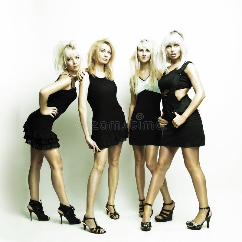 piękna cztery kobiety zdjęcie royalty free