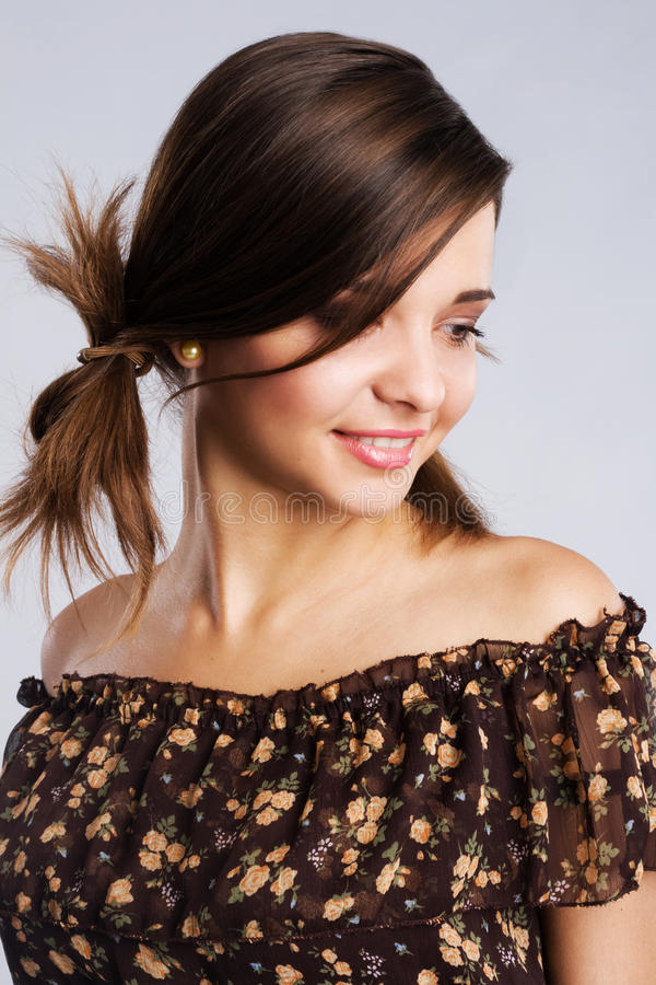 Piękna czuła kobieta zdjęcie stock