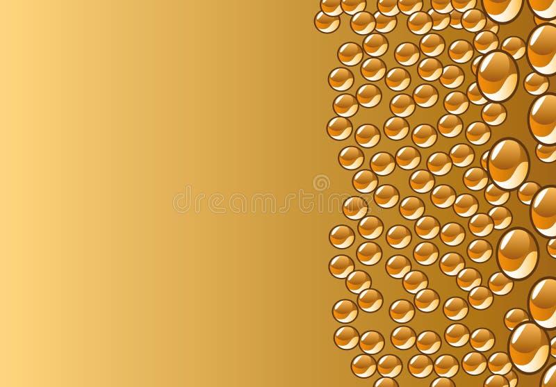 piękna dekoraci kropel wektoru woda royalty ilustracja