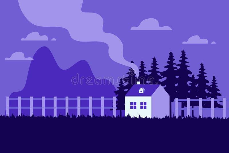 Piękna Domowa nowożytna płaska projekta wektoru ilustracja ilustracja wektor