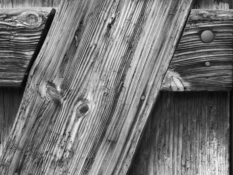 Piękna drewno adra w czarny i biały zdjęcie stock