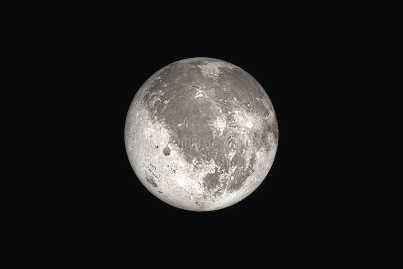 Piękna duża księżyc w pełni royalty ilustracja