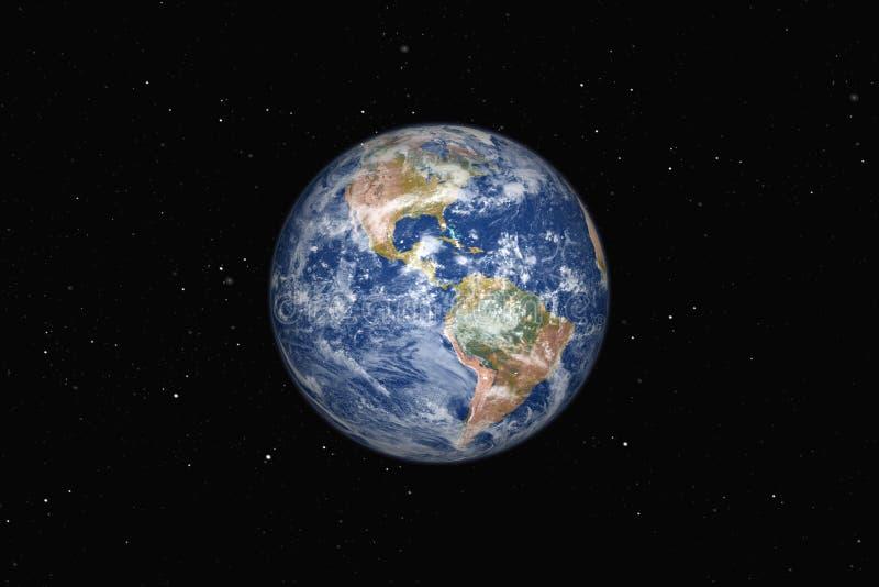 Piękna duża ziemia Ameryka royalty ilustracja