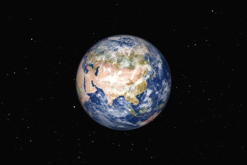 Piękna duża ziemia Asica royalty ilustracja