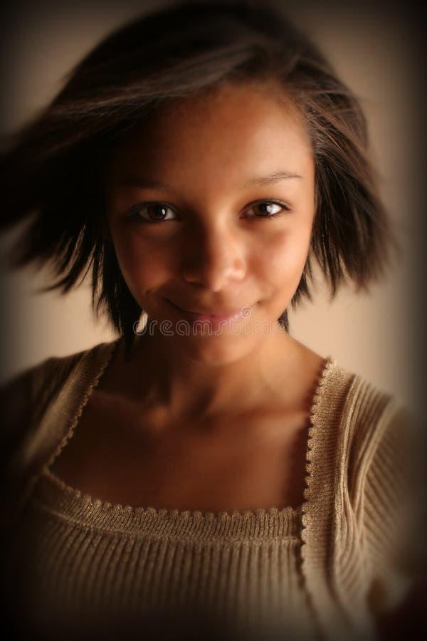 piękna dziewczyna biracial zdjęcia stock
