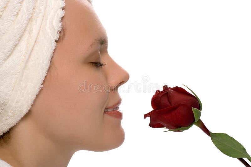 piękna dziewczyna ręcznik prysznic obraz stock