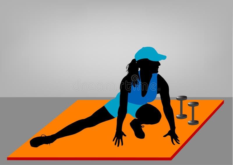piękna dziewczyna robi fizycznej fitness ilustracji