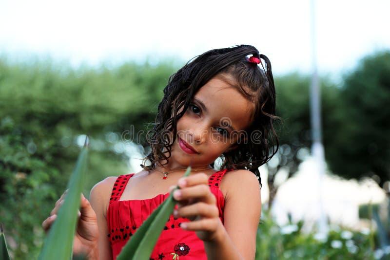Piękna dziewczyna w zbliżeniu obrazy royalty free