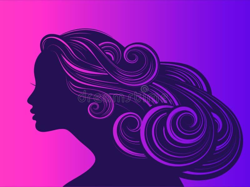 Piękna dziewczyna z długim gęstym falistym włosy zdjęcia royalty free