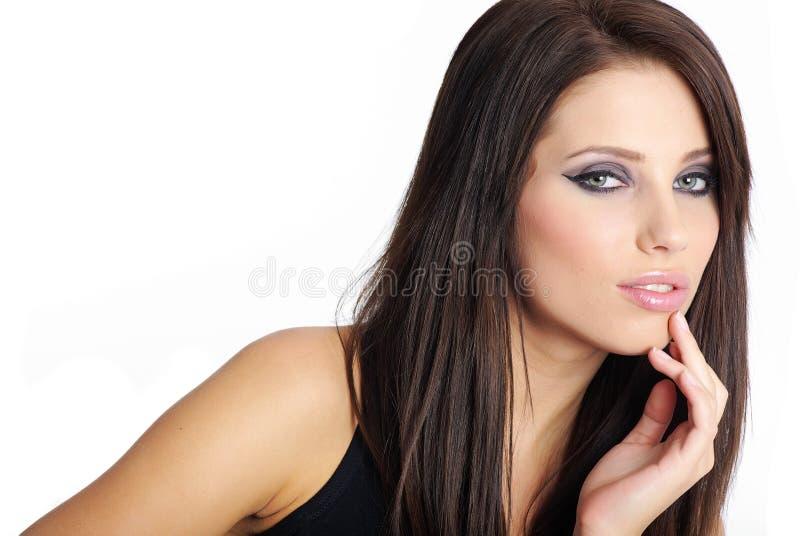 piękna dziewczyny fryzura zdjęcie royalty free
