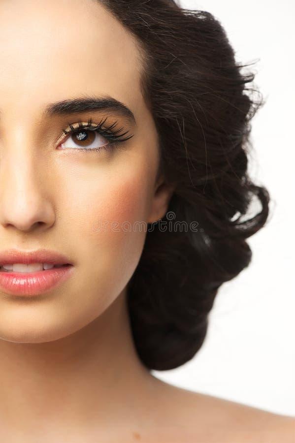 Piękna Dziewczyny Połówki Rama zdjęcie stock