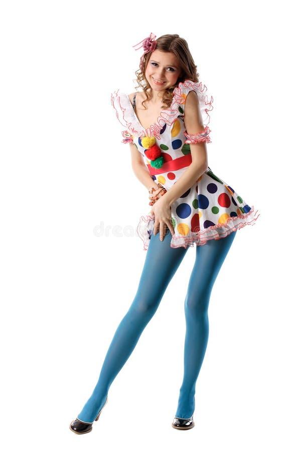 piękna dziwna zabawną dziewczyną zdjęcie stock