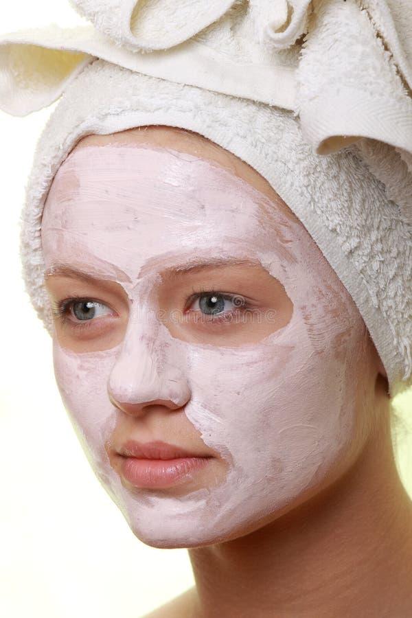 piękna facial zamaskowany traktowanie fotografia royalty free
