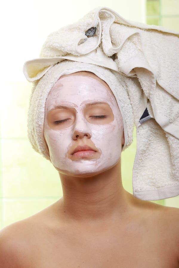 piękna facial zamaskowany traktowanie zdjęcia royalty free