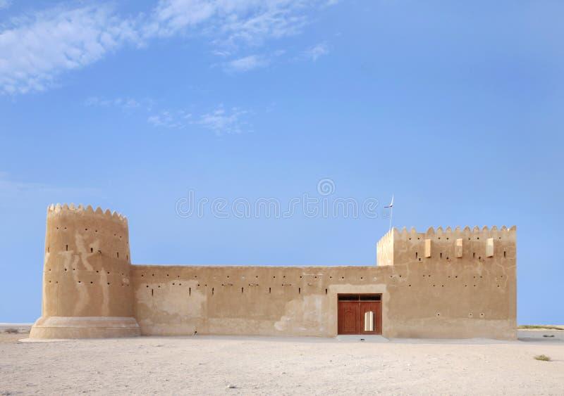 Piękna fasada Zubarah fort, Katar obraz stock