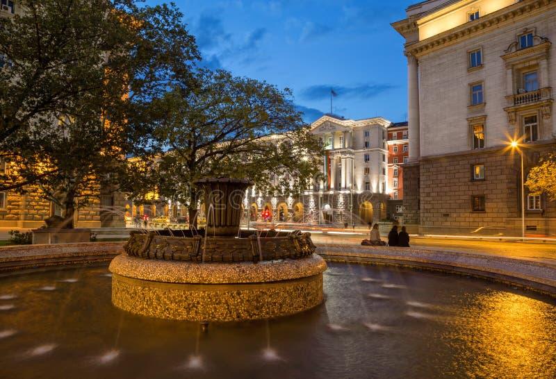 Piękna fontanna w Sofia, Bułgaria zdjęcia stock