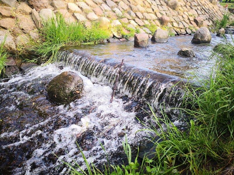 Piękna fotografia woda na letnim dniu zdjęcie royalty free