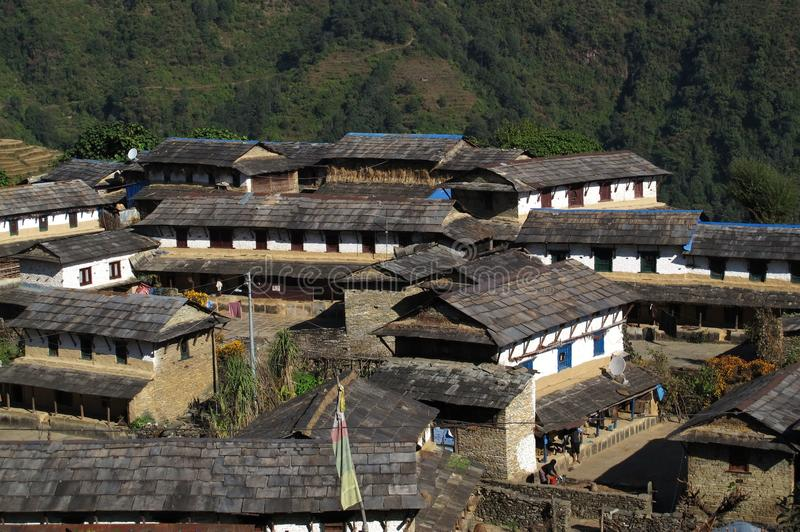 Piękna Gurung wioska Ghandruk fotografia stock
