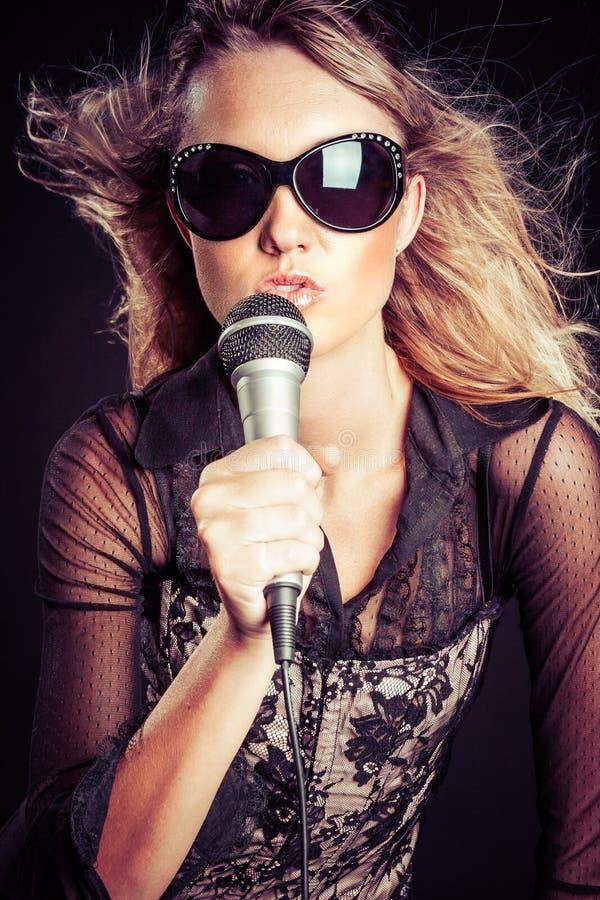 Piękna gwiazda rocka zdjęcia royalty free