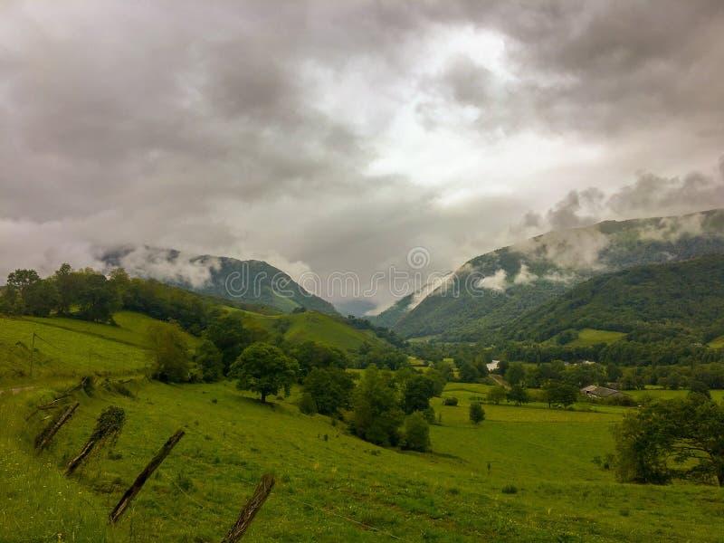 Piękna Halna dolina w Hiszpania obrazy stock
