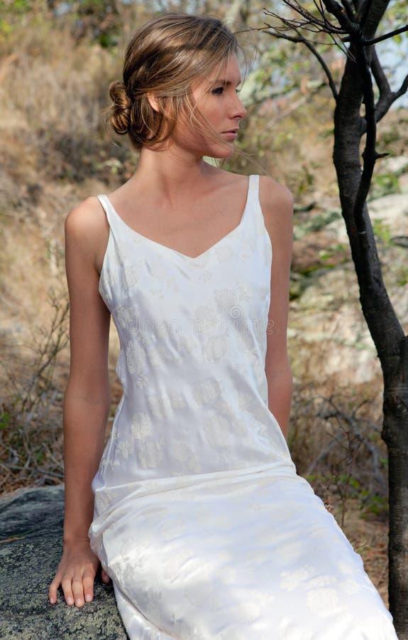 piękna halna kobieta zdjęcie stock