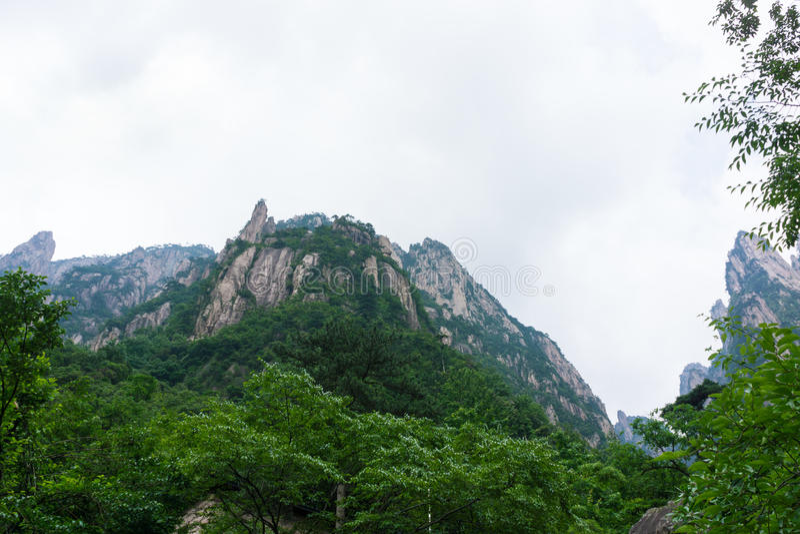 Piękna Huangshan góra w Chiny fotografia stock