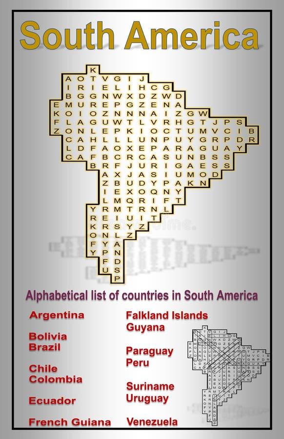 Piękna ilustracja Ameryka Południowa z słowami znajdować ilustracja wektor