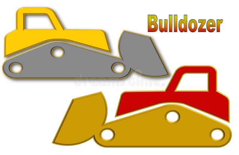 Piękna ilustracja buldożer z przestrzenią dla loga i reklamy ilustracja wektor