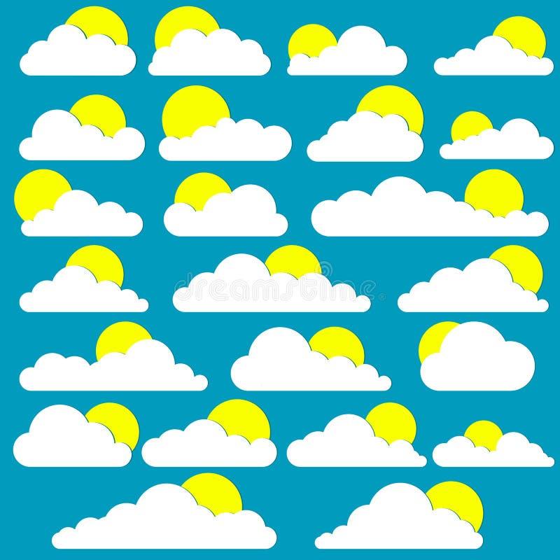 Piękna ilustracja chmury ilustracji
