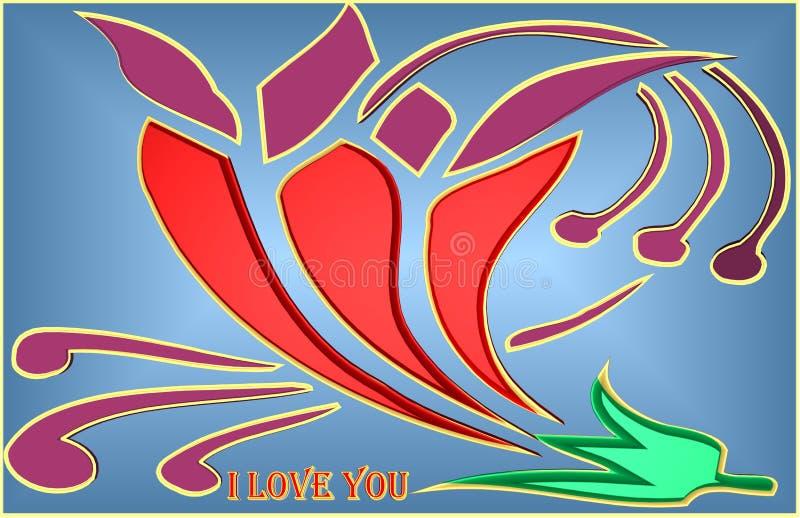 Piękna ilustracja colourful róża ilustracji
