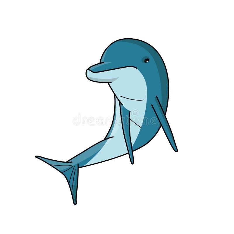 Piękna ilustracja delfin royalty ilustracja