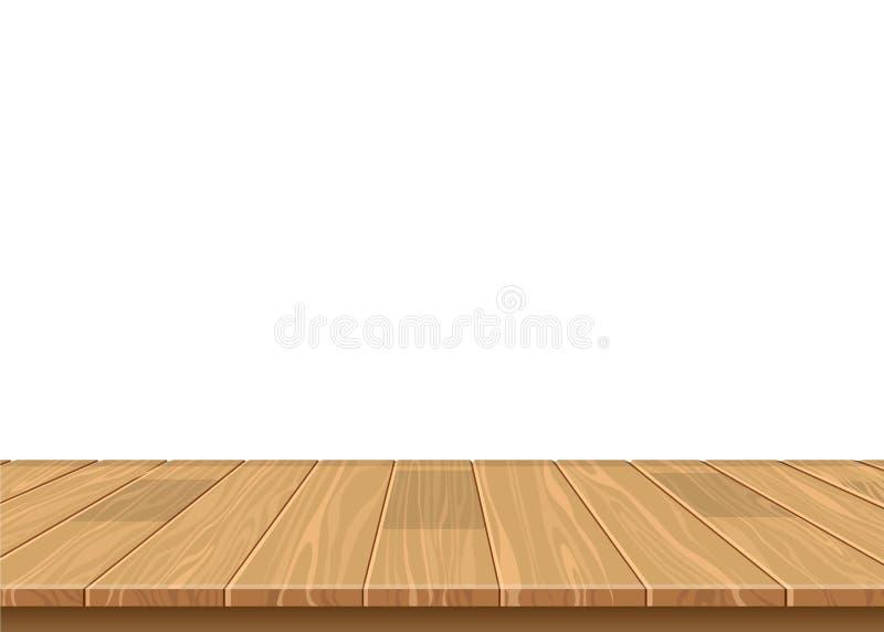 Piękna ilustracja drewnianej deski podłogowy wektorowy projekt royalty ilustracja