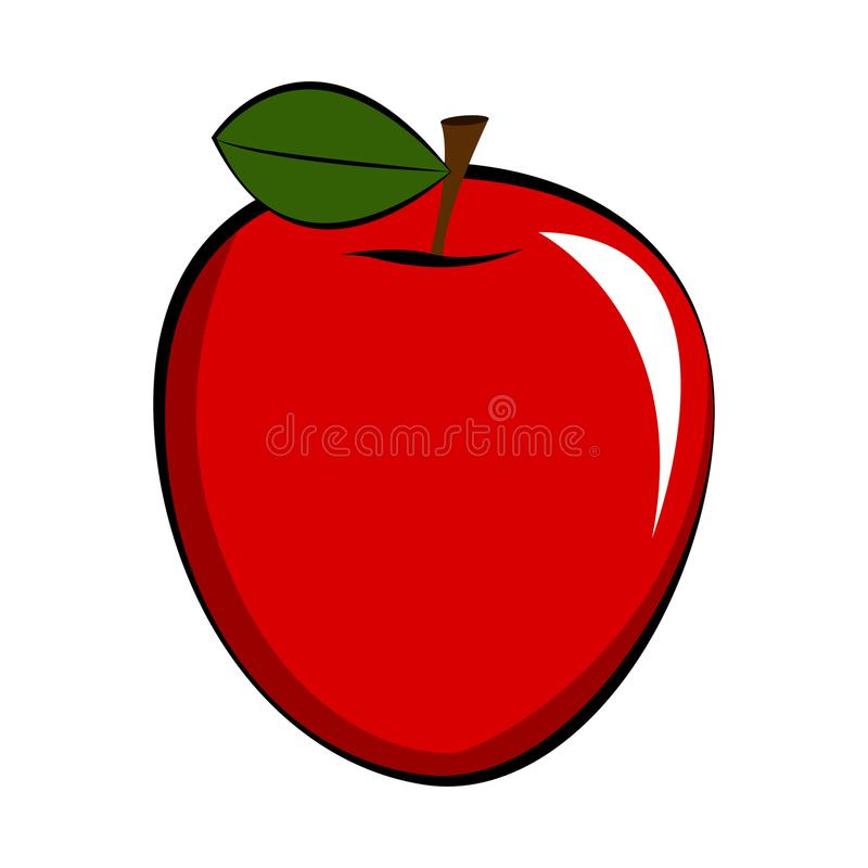 Piękna ilustracja jabłko ilustracji