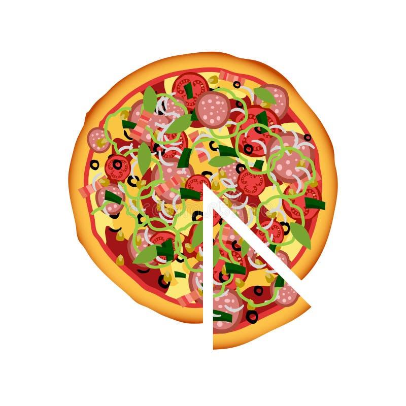 Piękna ilustracja pizza ilustracji