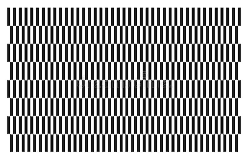 Piękna ilustracja wzór który jest biały i czarny ilustracja wektor