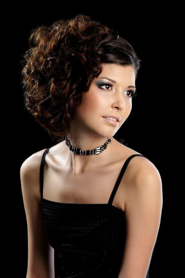 piękna kędzierzawa splendoru fryzury kobieta obrazy royalty free