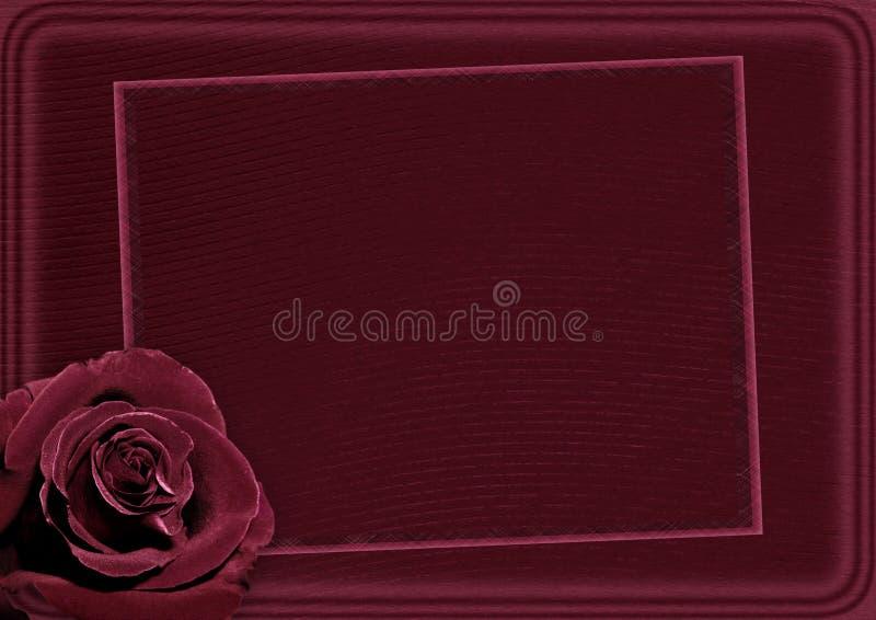 piękna karta rose ilustracja wektor