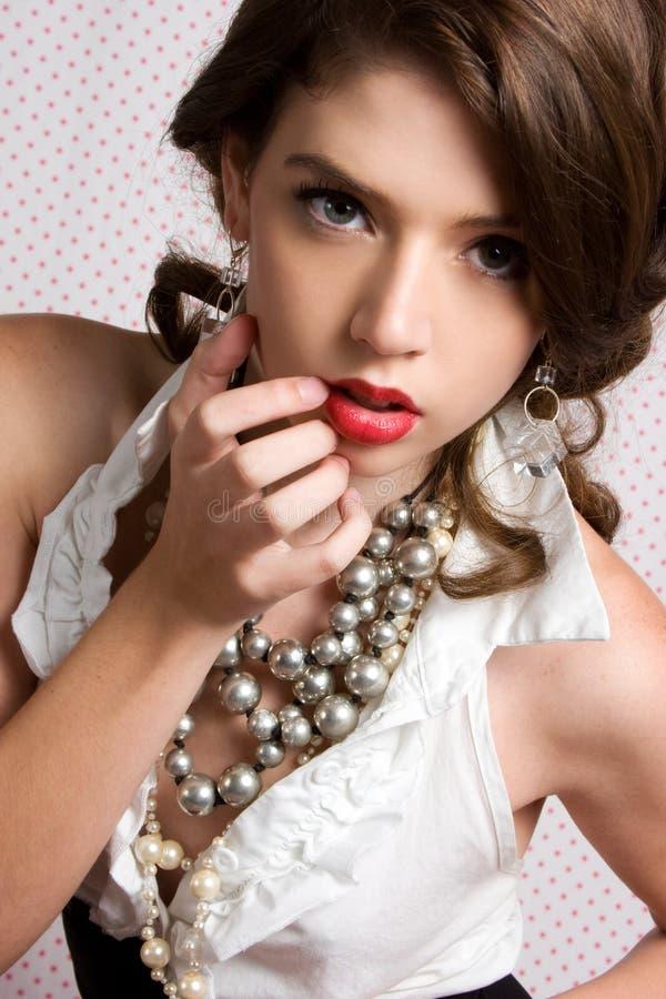 piękna klasyka kobieta obrazy royalty free