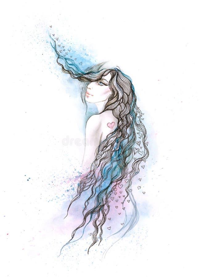 piękna kobieta ilustracja wektor