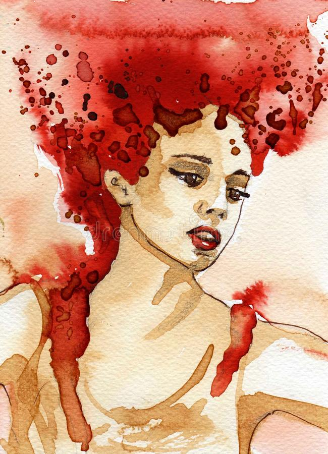 Piękna kobieta royalty ilustracja