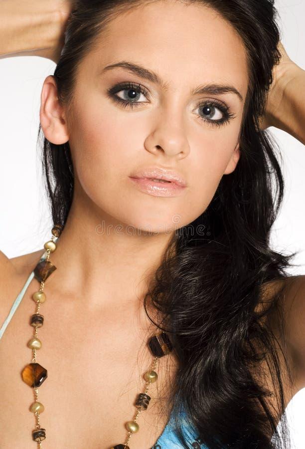 piękna kobieta brunetki obrazy stock